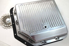 Chevy Aluminum Finned Polished TH-350 TH350 Turbo 350 Transmission Pan Trans