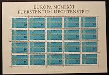 Sello LIECHTENSTEIN Stamp Yvert y Tellier nº487 x20 De Hecho De La Hoja N Y5