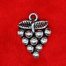 4 x tibetan silver raisins fruits vin charme pendentif perles faire trouver