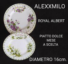 ROYAL ALBERT CUCCHIAINI THè TEA SILVER PLATED FLOWER OF THE MONTH MESE A SCELTA