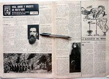 MATA HARI => coupure de presse espagnole 2 pages 1972 ~ Vintage SPANISH CLIPPING
