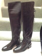 Russell & Bromley Bond Street Over Knee boots Sz 5UK black leather zip hot2trot