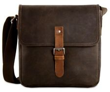 Handmade Bison Leather Messenger Bag Handbag iPad Binoculars Concelled Carry New