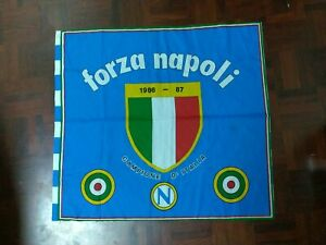 Fazzoletto/bandiera Forza Napoli Scudetto 86/87 Maradona