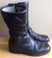 HEIN GERICKE MOTORCYCLE BOOTS, BLACK, MADE IN ITALY, SIZE US 8, EUR 41, UK 7