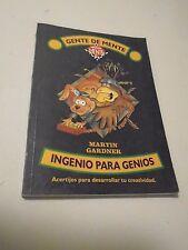 Ingenio Para Genios Martin Gardner Gente De Mente in Spanish Classic Brainteaser