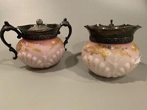 antique sugar and creamer set