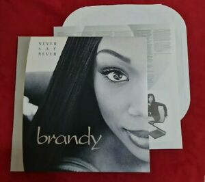 Brandy Never Say Never Original NM Vinyl Record 2 LP Sold Out Rare