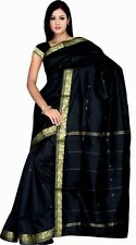 schwarz -grün Bollywood Karneval Sari Indien / Neu