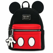 Loungefly x Mickey Suit Mini Saffiano Faux Leather Bookbag Backpack WDBK0295