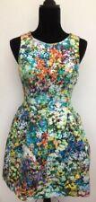 Zara Rare Bloggers Olivia Palermo Floral Cage Tulip Mini Dress M Fits Size 10/12