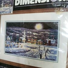 Dimensions Winter Moonlight Needlepoint Kit 2455 Sealed