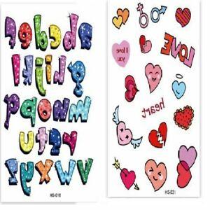 66 sheets 1500 tattos.Children's GirlsboysTemporary Tattoos Kids BirthdayParty.