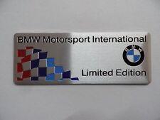 "BMW Motorsport, ""Limited Edition"",, M Power Performance Alu 3D Aufkleber Sticker"