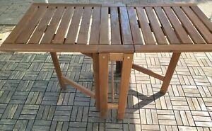 Ikea Äpplarö Gartentisch, Klapptisch, Massivholz Akazie, klappbarer Tisch aussen