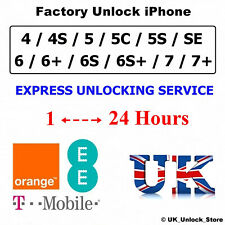 EE T-MOBILE UK UNLOCK IPHONE 4 4S 5 5S 5C SE 6 6S Plus 7 ✅Fast Unlocking Service