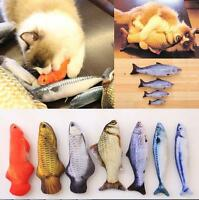 Interactive Fish Shape Pet Cat Dog Cat Mint Catnip Play Chewing Scratch Toy Gift