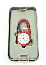 National Geographic Carabiner Clip Watch With LED Micro-Light NEW in Tin