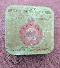 VINTAGE 1924 BRITISH EMPIRE EXHIBITION SAVILE ROW KENYA COFFEE TIN J .LYLE & CO