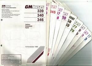 GM Buses (Manchester) Timetable booklets/leaflets - 1986-90
