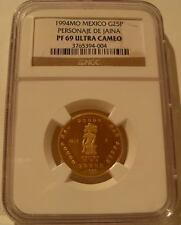 Mexico 1994MO Gold 1/4 oz 25 Pesos NGC PF-69UC Personaje De Jaina