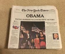 "The New York Time , Wednesday, November 5, 2008 "" OBAMA AS PRESIDENT- ELECT """