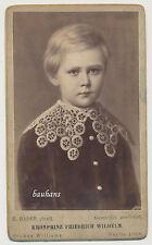 CDV Foto- Berlin  Kronprinz Friedrich Wilhelm   (Y145)