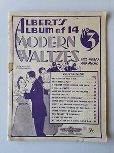 ALBERT'S ALBUM OF 14 MODERN WALTZES NO.3 - Sheet Music