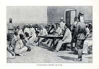 Gerichtsverhandlung Deutsch-Ostafrika 1906 Kunstdruck Deutsche Kolonie Tansania