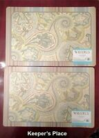Set Of 2 Waverly Placemats Green Paisley Foam Back New With Tag