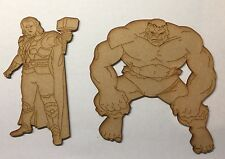 Wooden Characters Mdf Laser Cut 3 Mm thick wood Blanks Marvel