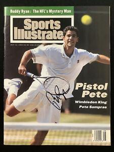 Pete Sampras Signed Sports Illustrated 7/11/94 No Label Tennis US Open Auto JSA