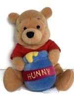 Disney Store Winnie The Pooh Bear Soft Plush  With Hunny Pot - 7 Inches Tall