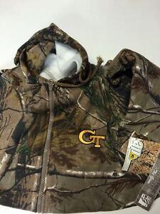 Georgia Tech Yellow Jackets Realtree Camo Full Zip Hooded Sweatshirt