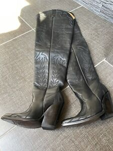 Cowboy Crotch High Boots In Genuine Leather