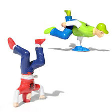 Plastic Breakdance Headspin & Handspin Wind-Up B-Boy Toy