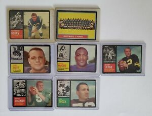 Lot of 1962 Topps Football Cards PSA Ready - See Pics! Ray Berry Sonny Jurgensen