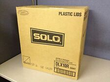 Case of 2000 Solo Dlx10R White Plastic Tear Top Cup Lid for X10N X10C