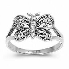 .925 Sterling Silver Ring size 7 Butterfly Midi Fashion Ladies Knuckle New b82
