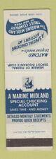 Matchbook Cover - Marine Midland Trust Company New York City
