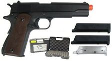 SRC SR 1911 Airsoft Gas Blowback Pistol Includes Case 2 Magazines and BB Loader
