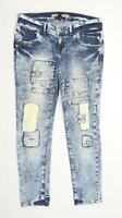 Womens Next Blue Sequin Denim Jeans Size 14/L29