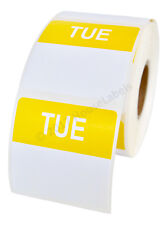 20 Rolls of Tuesday Day of the Week Labels (500 lbls/roll, 40mmx40mm) BPA Free!