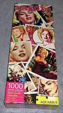 """MARILYN MONROE ~ STAMPS ~ AQAURIUS 1000 PIECE JIGSAW PUZZLE 12"""" X 36"""" BRAND NEW"""