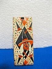 Vintage Halloween Tin Ratchet Us Metal Toy Co Noisemaker 1960'S Witch Owl
