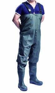 100% WATERPROOF SONIC SEAM PVC CHEST WADERS-FLY COARSE FISHING MUCK WADER BOOTS