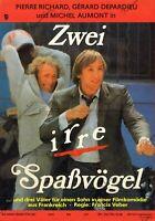 DDR Progress Filmplakat A3 Zwei irre Spaßvögel 1986 P. Richard & G. Depardieu