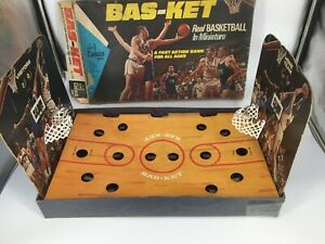 Vintage Bas-ket Real Basketball In Miniature Cadaco Game No. 165 Dated 1969