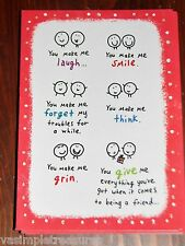 "Blue Mountain Arts FRIEND Greeting Card ""You Make Me Think"" B2GO SALE"