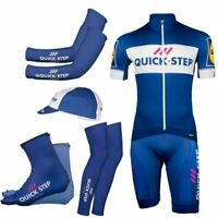 2019 Quick step Pro 6 Pieces Full Set Cycling Jersey Short Sleeve Summer Bicycle